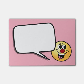Smiling Smiley Face Grumpey Post-it® Notes