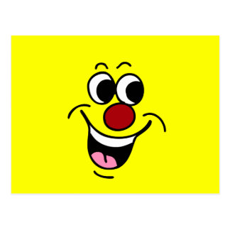 Smiling Smiley Face Grumpey Postcard