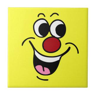 Smiling Smiley Face Grumpey Tile