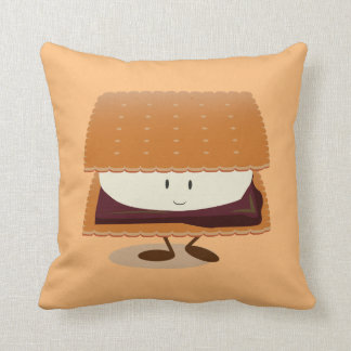 Smiling S'more   Throw Pillow