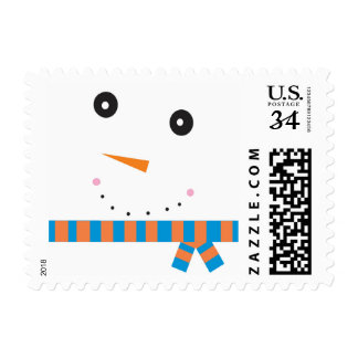 Smiling Snow Face Stamp