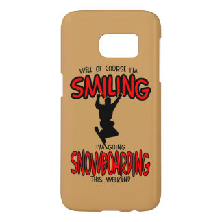 Smiling SNOWBOARDING weekend 2.PNG Samsung Galaxy S7 Case