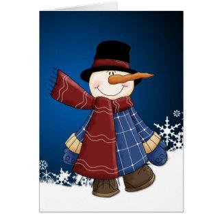 Smiling Snowman Christmas Greeting Card