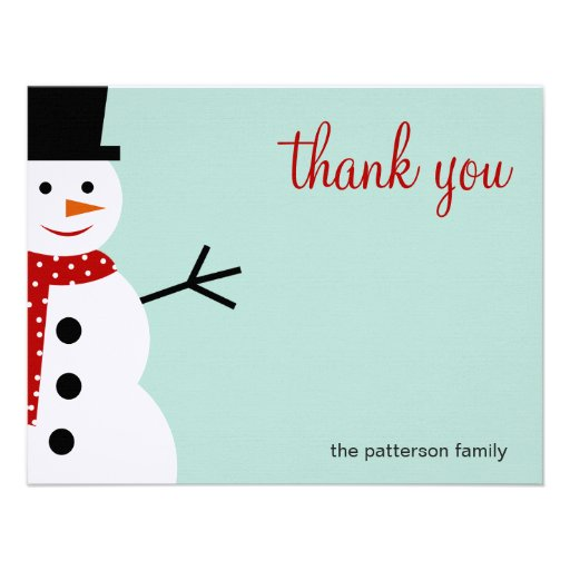 "... Christmas/Holiday Thank You Cards 4.25"" X 5.5"" Invitation Card"