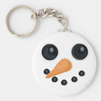 Smiling Snowman Keychain