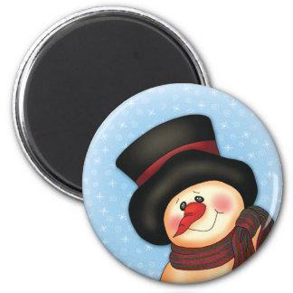 """Smiling Snowman"" Magnet"