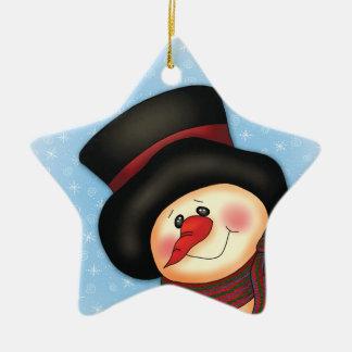 """Smiling Snowman"" Ornament"