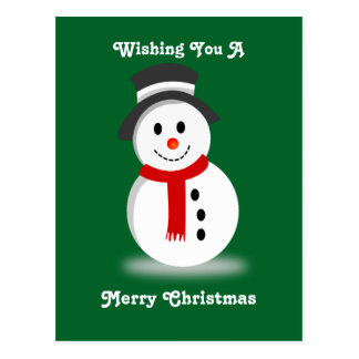 Smiling Snowman Postcard