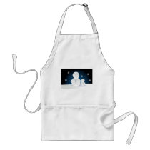 Smiling Snowpeople Adult Apron
