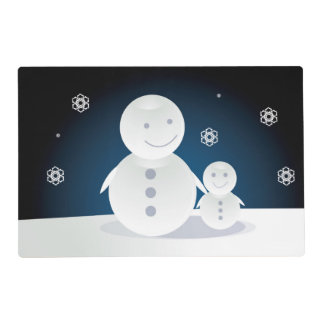 Smiling Snowpeople Placemat