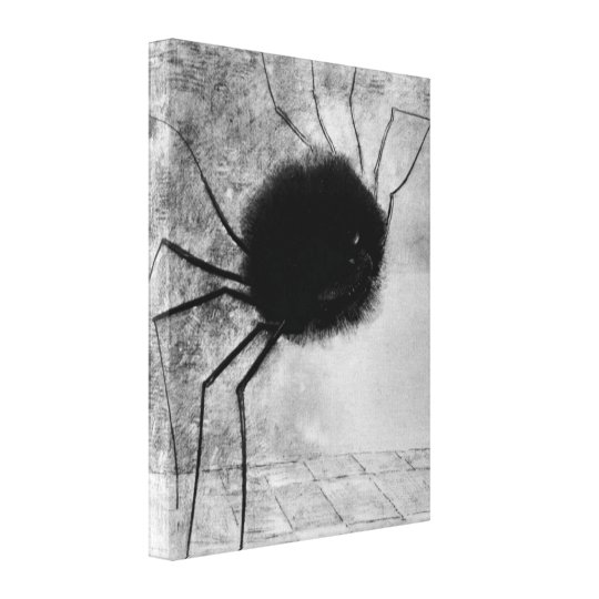 Smiling Spider by Odilon Redon, Vintage Halloween Canvas Print