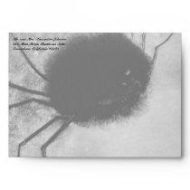 Smiling Spider by Odilon Redon, Vintage Halloween Envelope