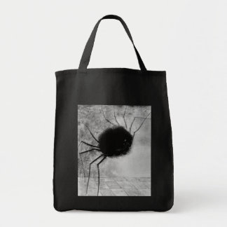 Smiling Spider by Odilon Redon, Vintage Halloween Grocery Tote Bag