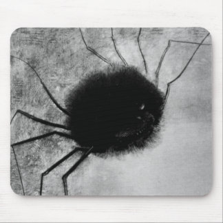 Smiling Spider by Odilon Redon, Vintage Halloween Mouse Pad