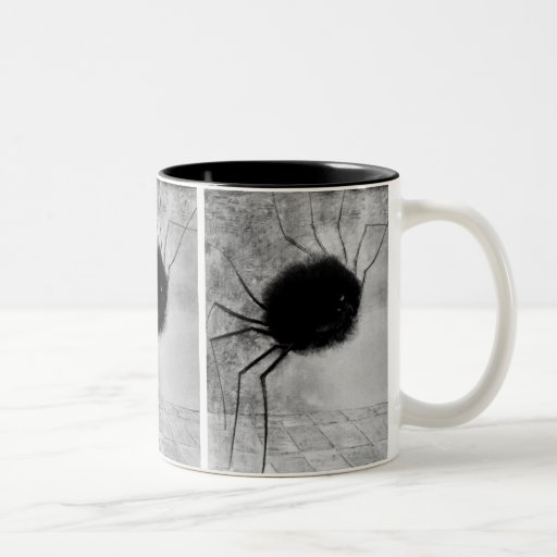 Smiling Spider by Odilon Redon, Vintage Halloween Mugs