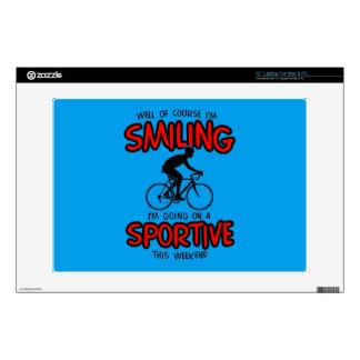 """Smiling Sportive W/end 13"""" Laptop Skin"""