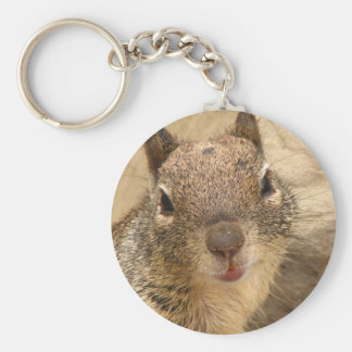 Smiling Squirrel keychain