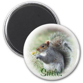 Smiling Squirrel Magnet