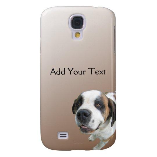 Smiling St. Bernard on Brown Samsung Galaxy S4 Case
