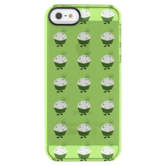 Smiling St. Patrick's day cupcake Clear iPhone SE/5/5s Case