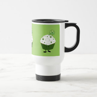 Smiling St. Patrick's day cupcake Travel Mug