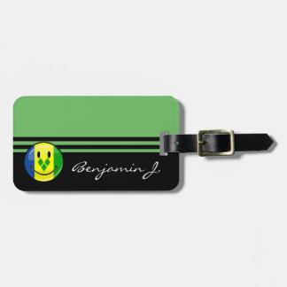 Smiling St. Vincent and Grenadines Flag Bag Tag