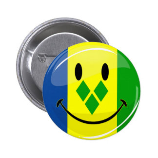 Smiling St. Vincent and Grenadines Flag Button
