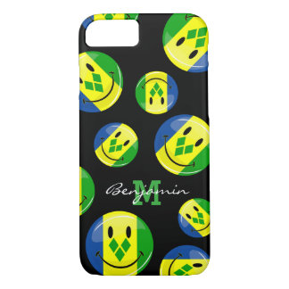 Smiling St. Vincent and Grenadines Flag iPhone 8/7 Case