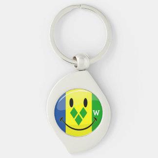 Smiling St. Vincent and Grenadines Flag Keychain