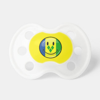 Smiling St. Vincent and Grenadines Flag BooginHead Pacifier