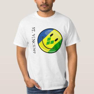Smiling St. Vincent and Grenadines Flag T-Shirt