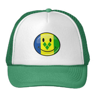 Smiling St. Vincent and Grenadines Flag Trucker Hat