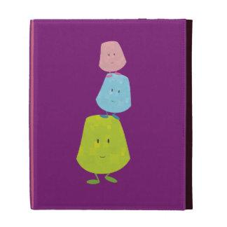 Smiling stack of gumdrops iPad folio cases