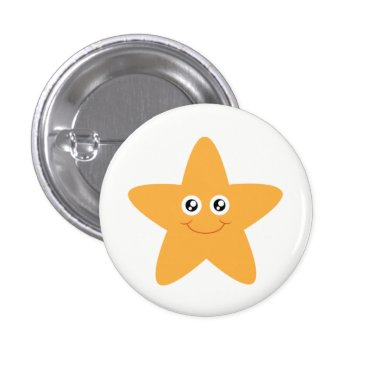 Beach Themed Smiling Starfish Button