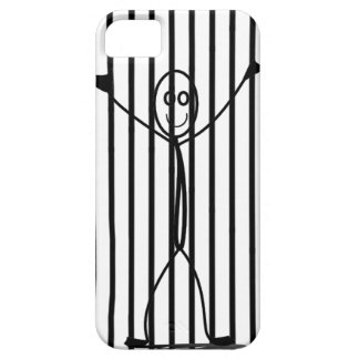 Smiling Stick-Man behind bars iPhone Case