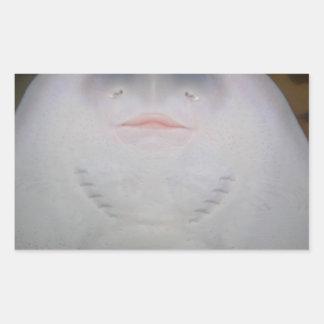Smiling Sting Ray Swimming in Water Rectangular Sticker