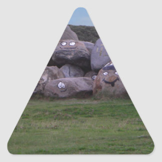 Smiling Stones products Triangle Sticker