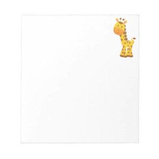 Smiling Stylized Cartoon Giraffe Notepad