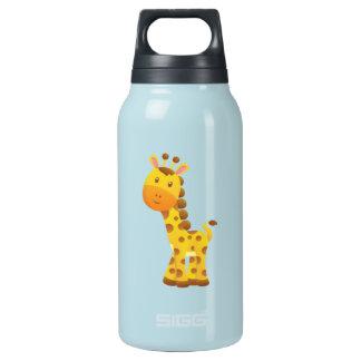 Smiling Stylized Cartoon Giraffe Thermos Bottle