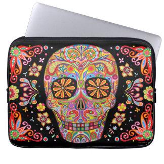Smiling Sugar Skull Laptop Sleeve Laptop Sleeves
