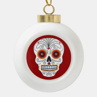 Smiling Sugar Skull Ornament (Ball or Snowflake)