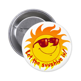 Smiling Summer Sun Button