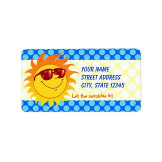 Smiling Summer Sun Label
