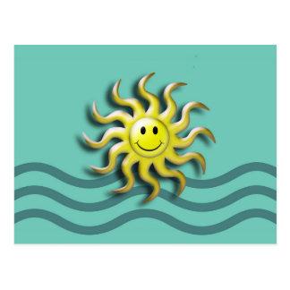 Smiling Summer Sun Postcard