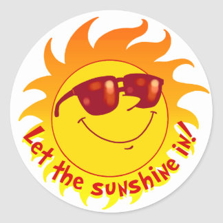 Smiling Summer Sun Stickers