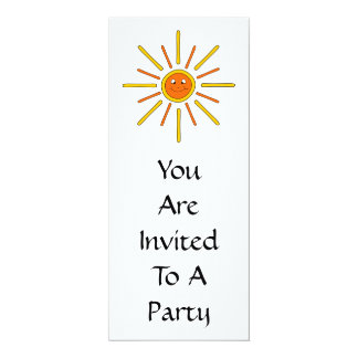 Smiling Summer Sun. Yellow and Orange. Card