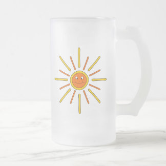 Smiling Summer Sun. Yellow and Orange. Mugs