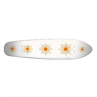 Smiling Summer Sun. Yellow and Orange. Skate Board Deck
