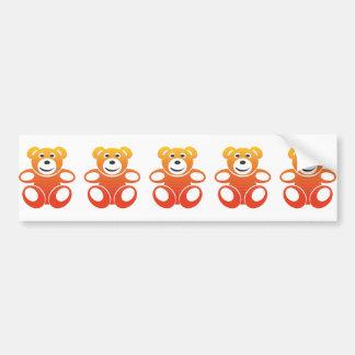 Smiling Summer Teddy Bumper Sticker