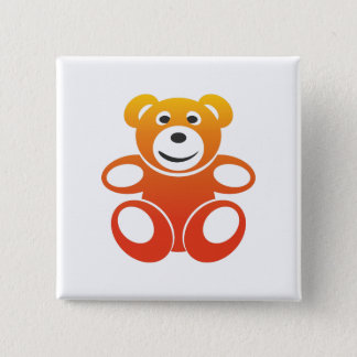 Smiling Summer Teddy Button